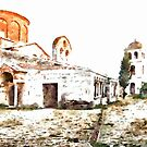 Albania: foreshortening of the Orthodox Convent of Apollonia by Giuseppe Cocco