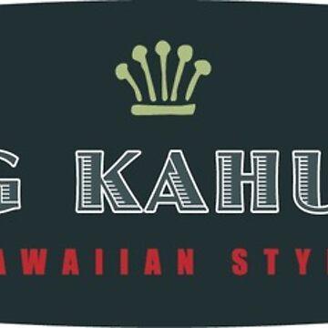Big Kahuna Hawaiian Style Oval by azoid
