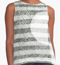 Hand drawing ink square pattern Contrast Tank