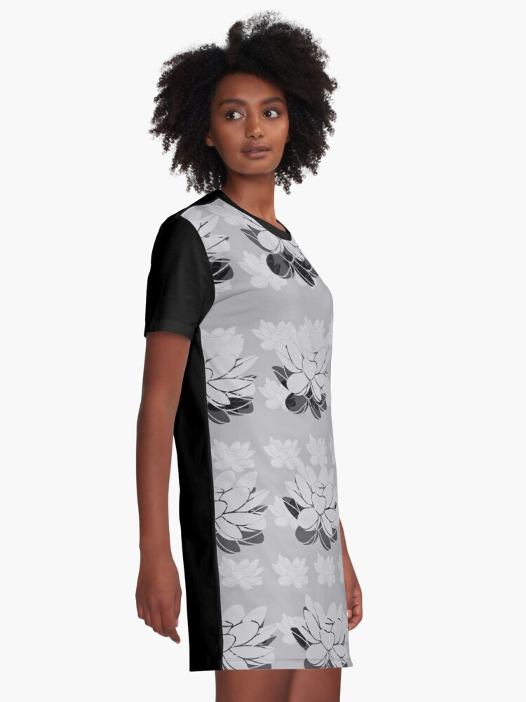 Alternate view of Lily gray value Graphic T-Shirt Dress