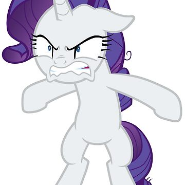 Rarity growling with overprotective greed by Tardifice