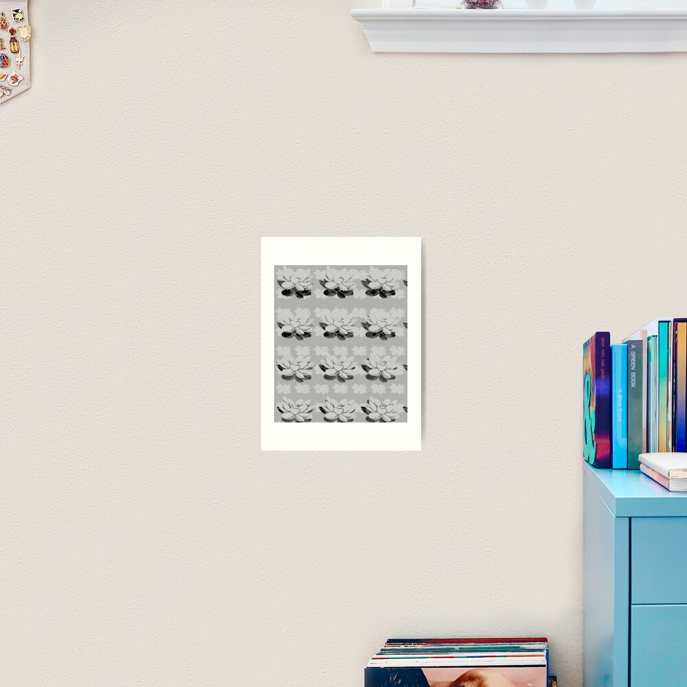 Lily gray value Art Print