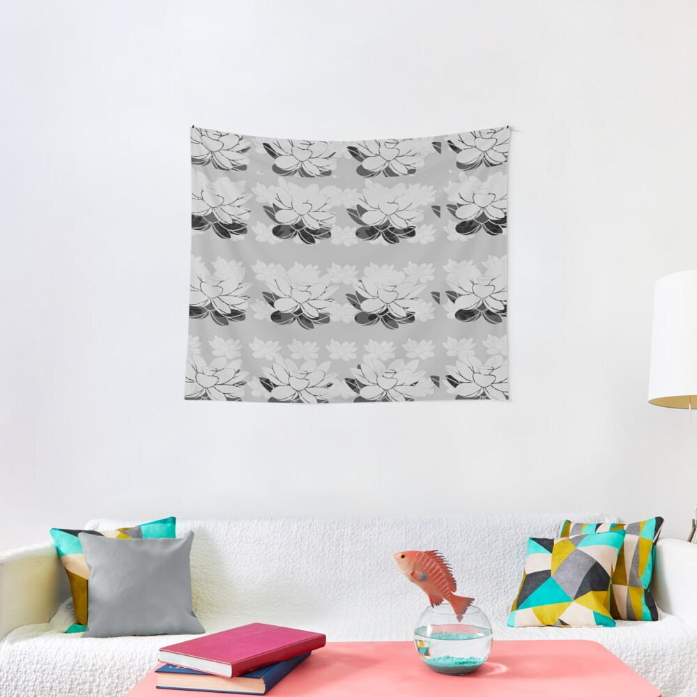Lily gray value Tapestry