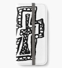 Lower case black and white Alphabet letter T iPhone Wallet/Case/Skin