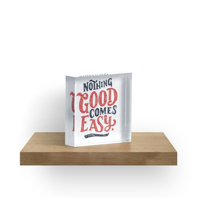 Nothing Good Comes Easy - Typography Design by Sebastian Stadler