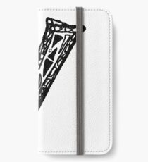 Lower case black and white Alphabet letter Y  iPhone Wallet/Case/Skin