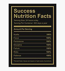Success Nutrition Facts  Photographic Print