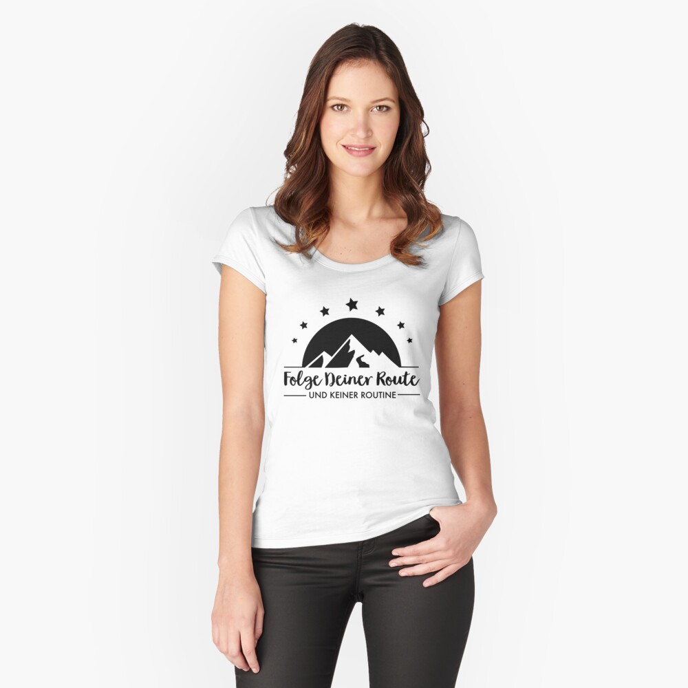 Hiking - Follow your route Fitted Scoop T-Shirt
