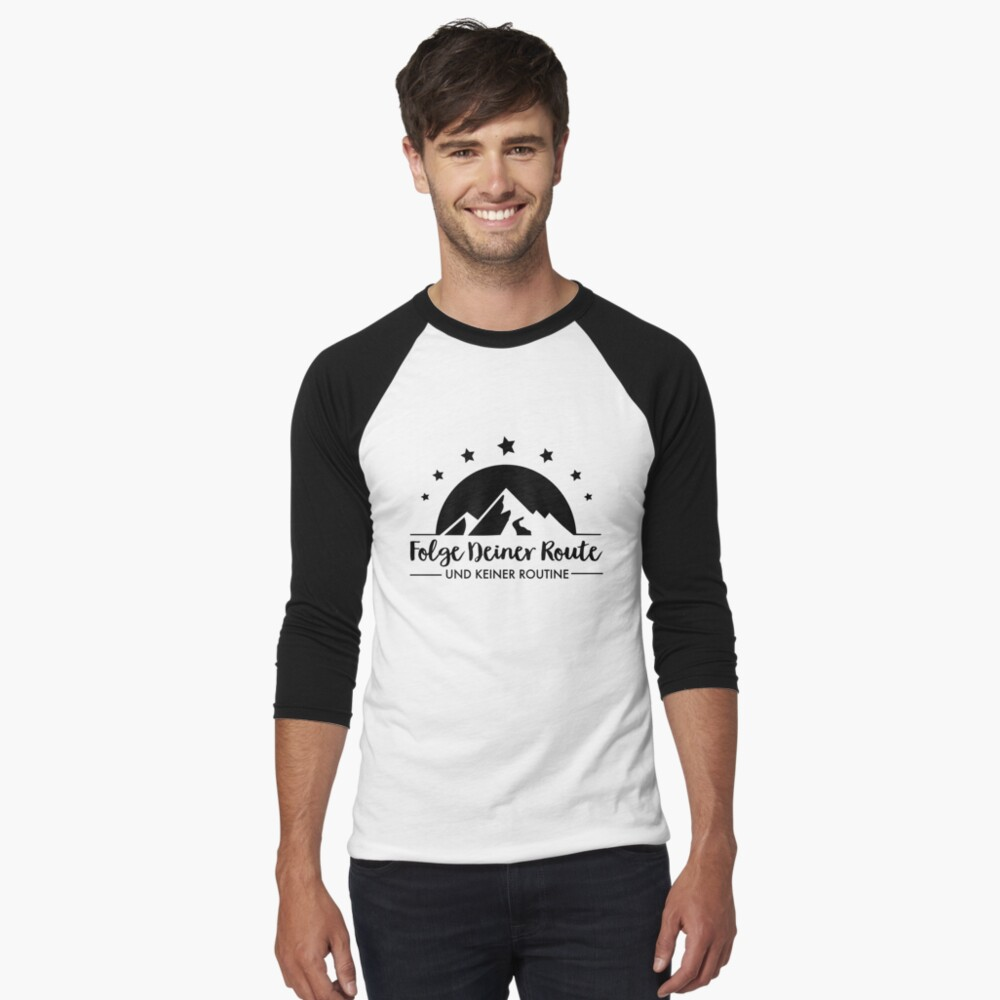 Hiking - Follow your route Baseball ¾ Sleeve T-Shirt