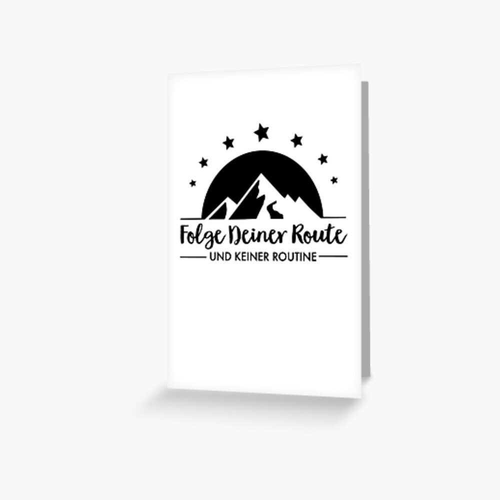 Hiking - Follow your route Greeting Card