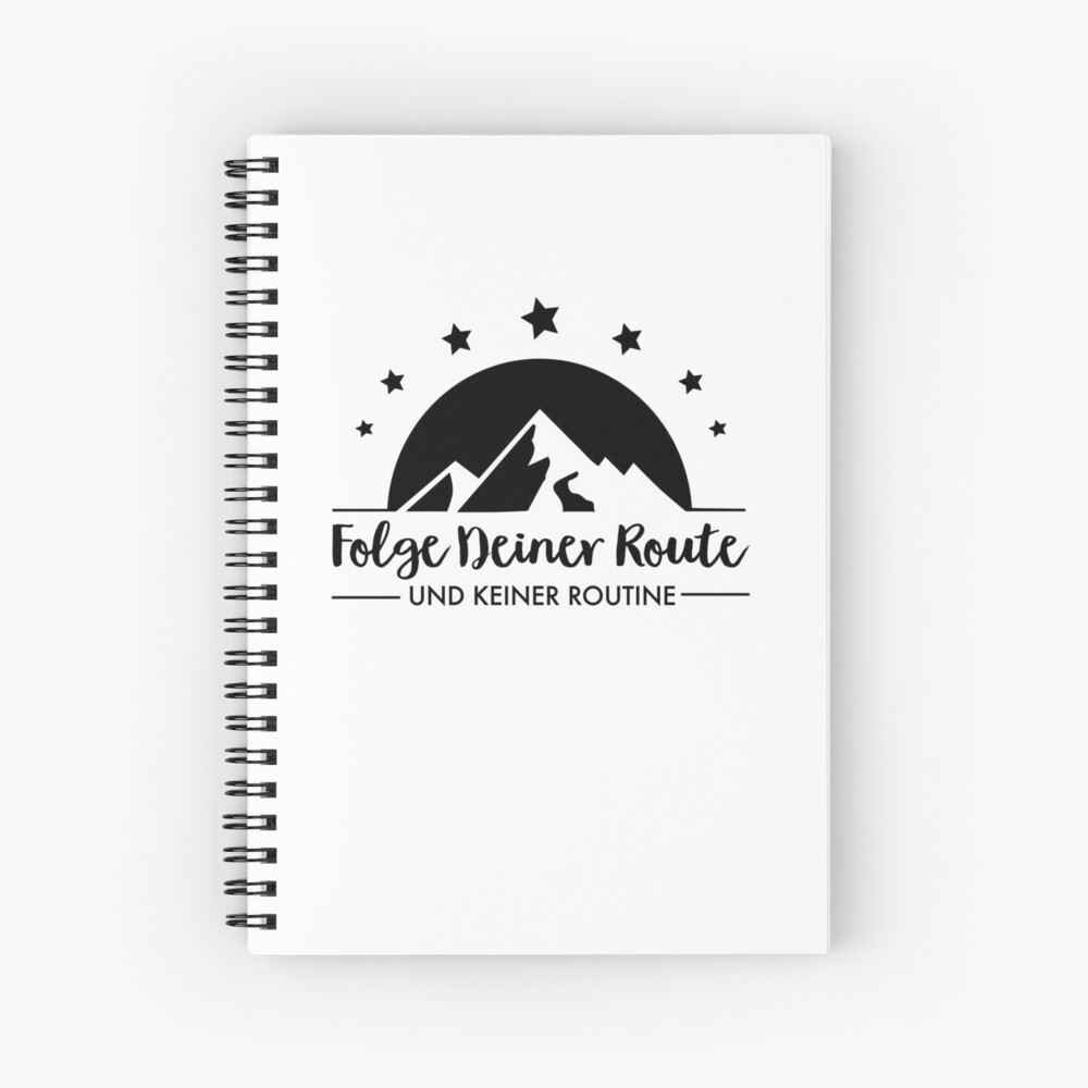 Hiking - Follow your route Spiral Notebook