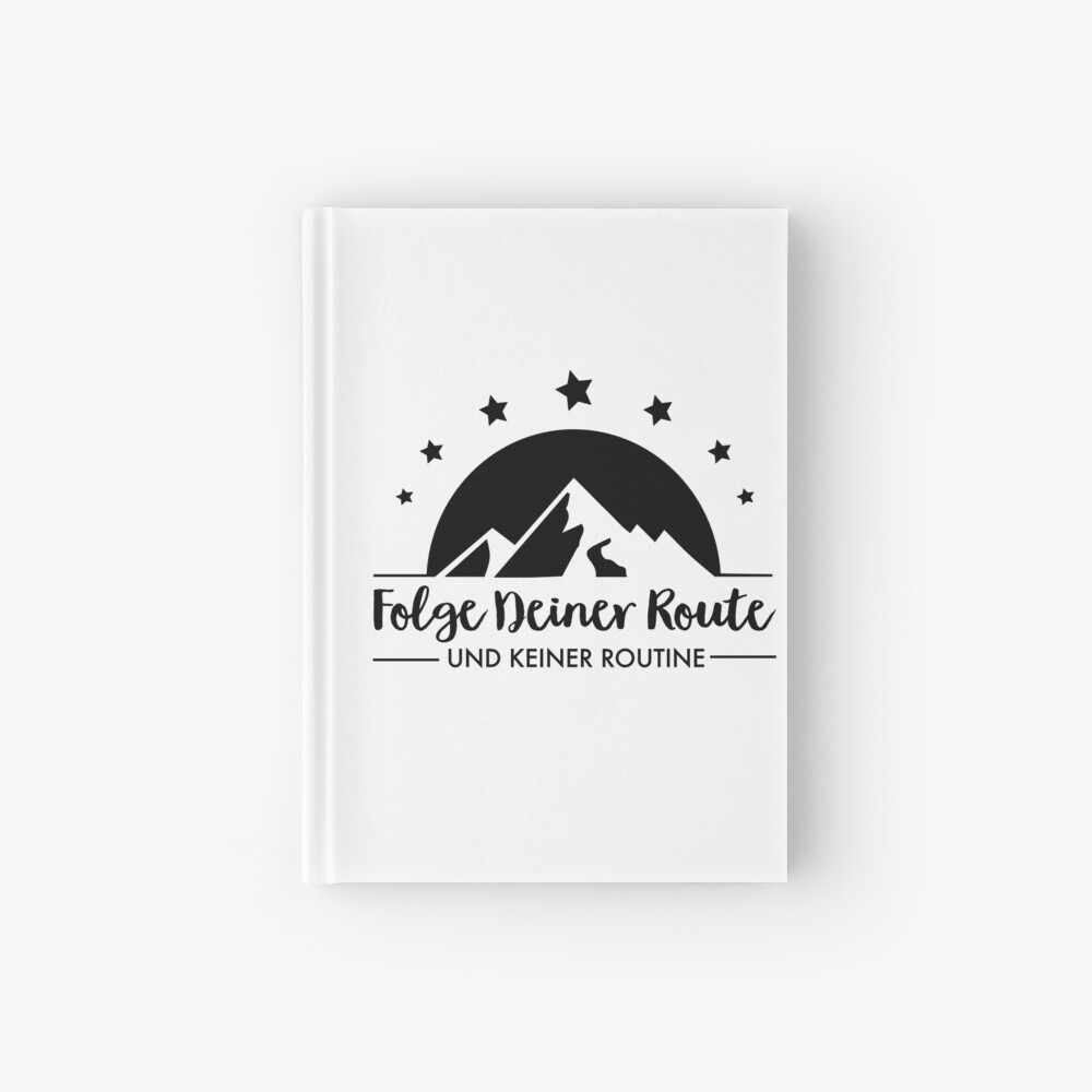 Hiking - Follow your route Hardcover Journal