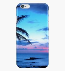 Tropical Island Pretty Pink Blue Sunset Landscape iPhone 6 Case