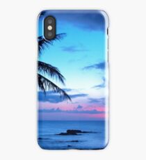 Tropical Island Pretty Pink Blue Sunset Landscape iPhone XS Case