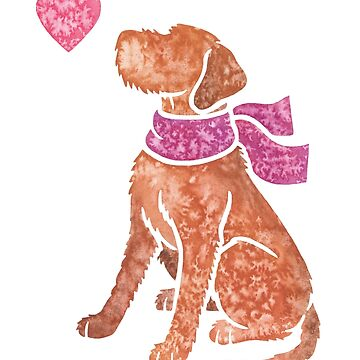 Watercolour Wirehaired Vizsla by animalartbyjess