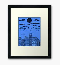 Blue Skyline Framed Print