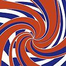 Orange and Blue Cartwheel - SPIN! by JoannieKayaks