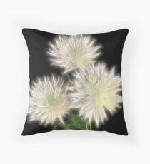 Electric Flowers! Throw Pillow