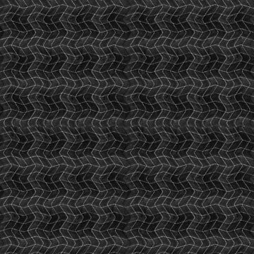 Wavy Grid Black and White Pattern by DFLCreative