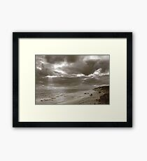 Winters Afternoon At Burns Beach Western Australia Framed Print
