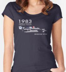 BRABHAM BT52 - 1983 NELSON PIQUET (V1) Tailliertes Rundhals-Shirt