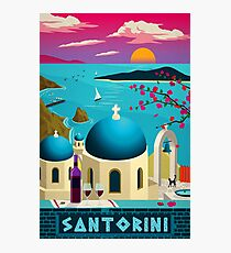 "Vintage travel poster ""Santorini - Greece"" ⛔ HQ quality Photographic Print"