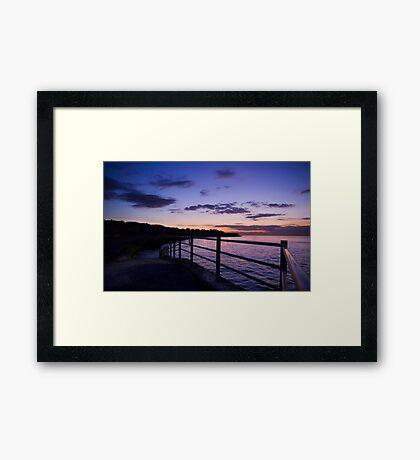 Last Light at Grenham Bay Framed Print