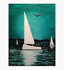 Sailing the blue Photographic Print