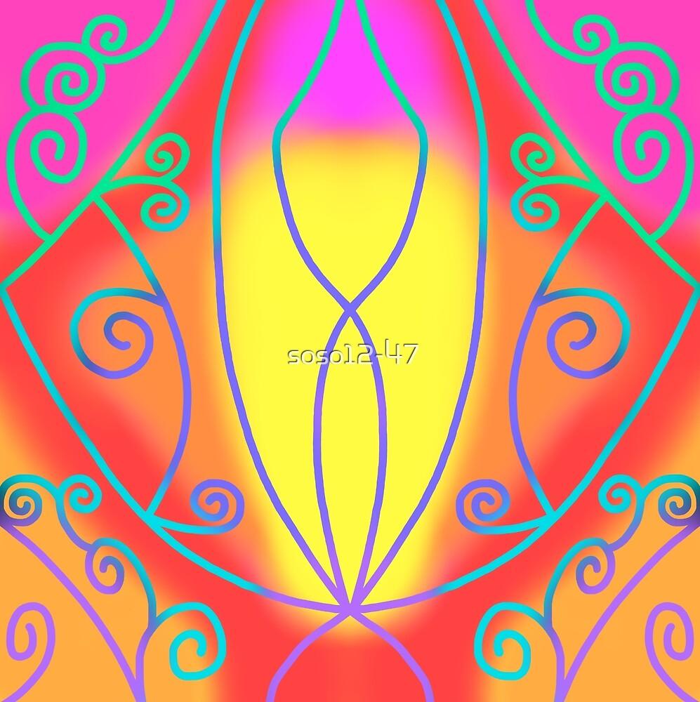 Conception de couleurs froides (fond de couleurs chaudes ...