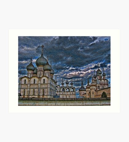 The Kremlin and The Cathedral. Rostov Velikiy. Russia. Art Print