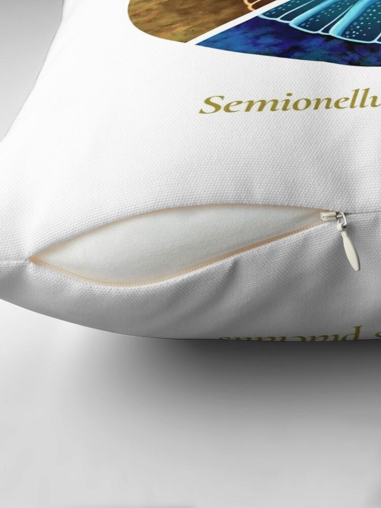 Alternate view of The Circles of Life: Semionellus placidus Throw Pillow