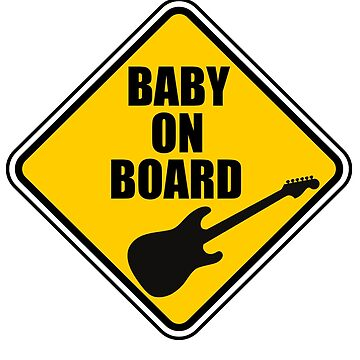 Stratocaster Baby On Board! by Joby-F-Randrup