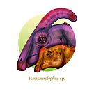 The Circles of Life: Parasaurolophus by Franz Anthony