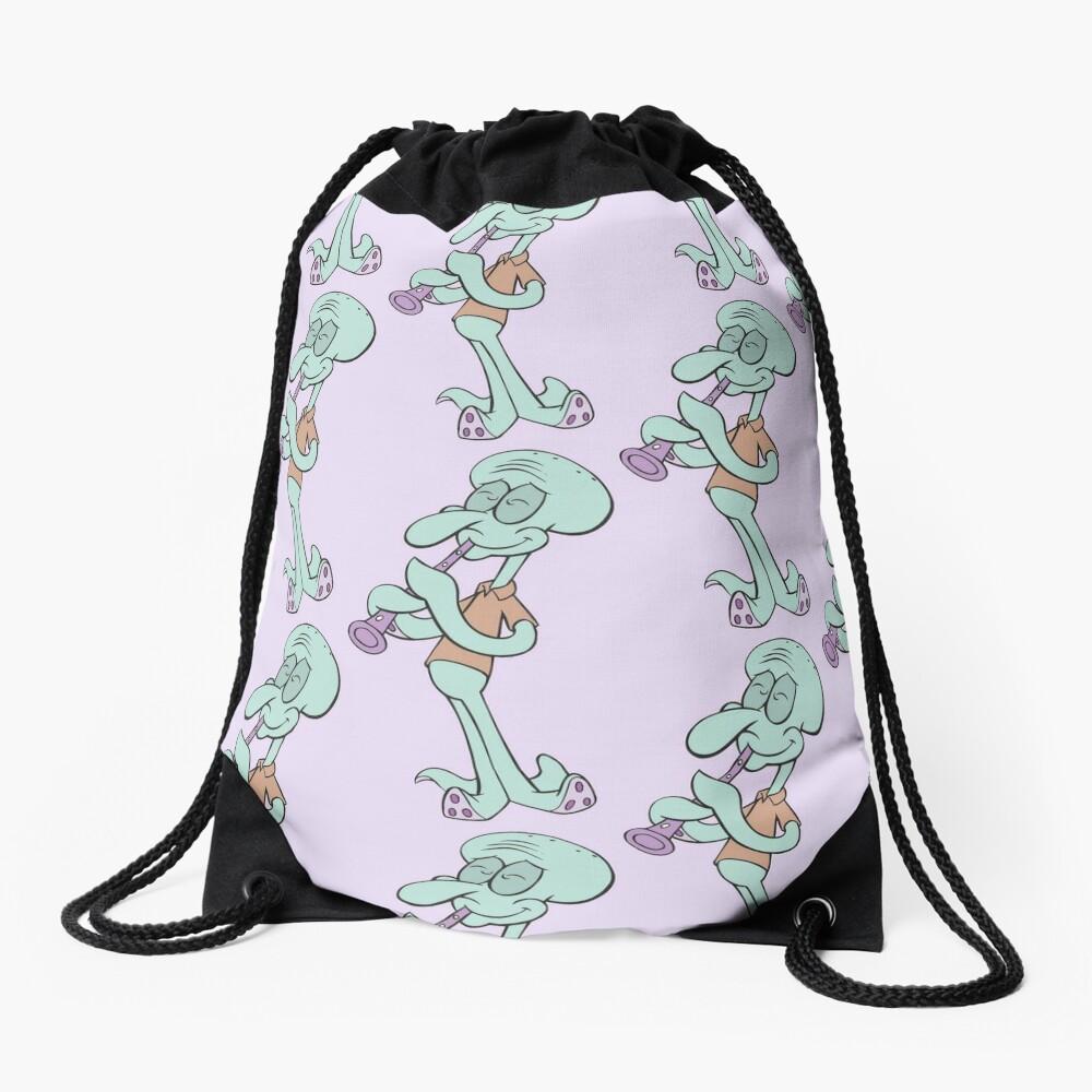 Squidward Drawstring Bag