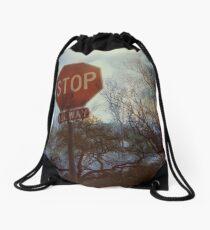 Flood Warning Drawstring Bag