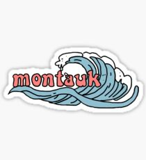 montauk wave sticker Sticker