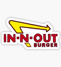 in-n-out burger logo Sticker