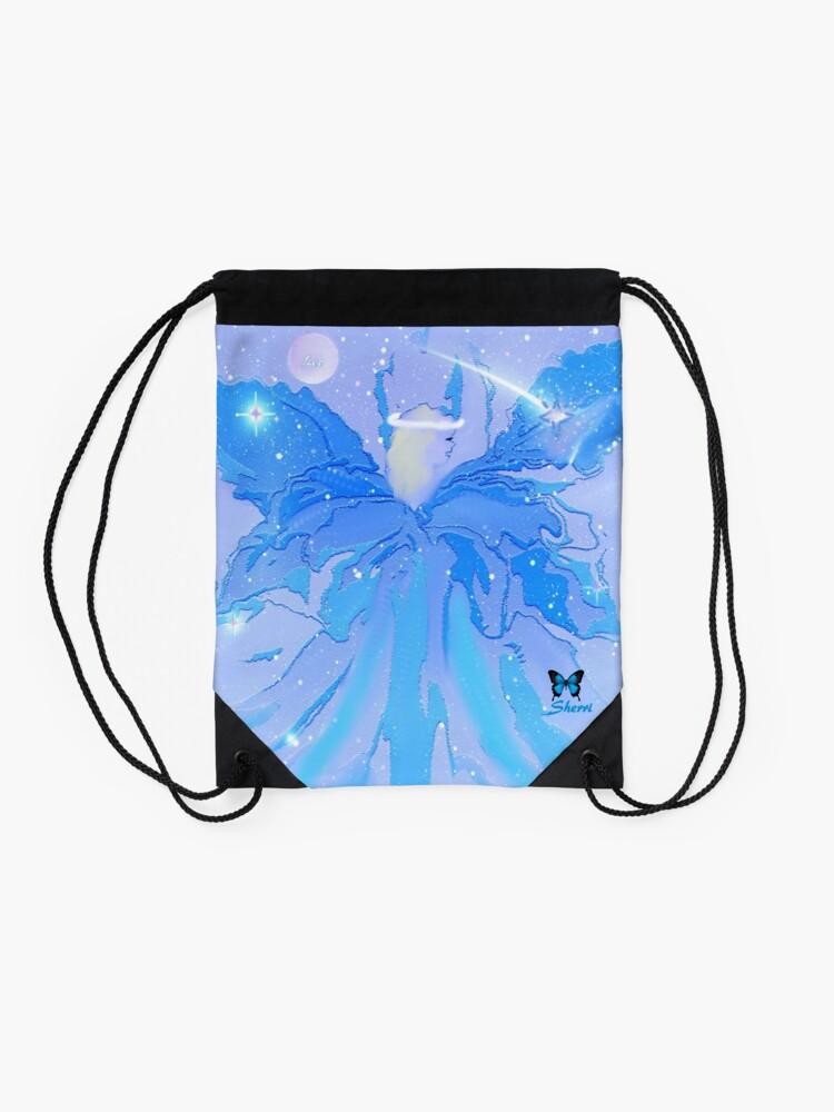 Alternate view of AUGUST ANGEL.............................LEO Drawstring Bag