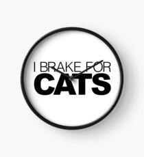 I brake for Cats Clock