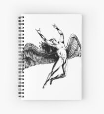 ICARUS THROWS THE HORNS - black ***FAV ICARUS GONE? SEE BELOW*** Spiral Notebook