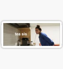 emma chamberlain tea Sticker