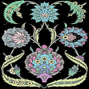 Ediemagic Modern Tapestry / Black by Ediemagic