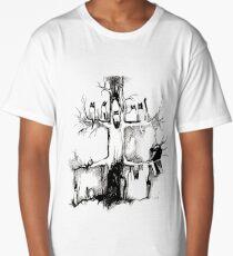 Cute tree cats chilling Long T-Shirt