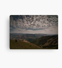Clouds over Ketchum Canvas Print