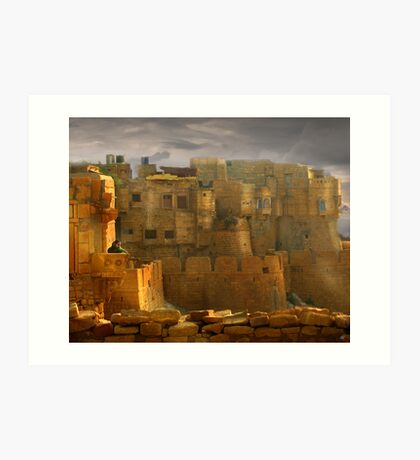 Lone Woman of Jaisalmer Art Print