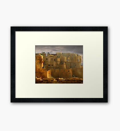 Lone Woman of Jaisalmer Framed Print