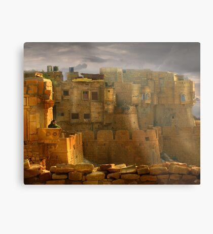 Lone Woman of Jaisalmer Metal Print
