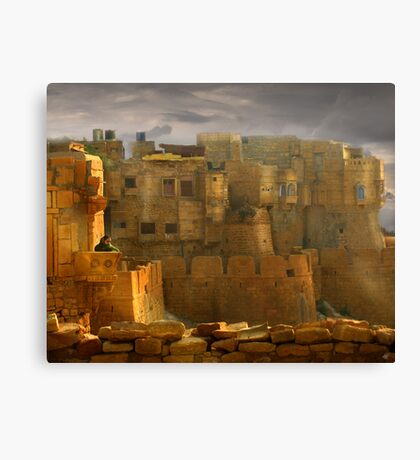 Lone Woman of Jaisalmer Canvas Print