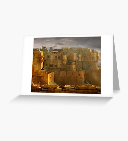Lone Woman of Jaisalmer Greeting Card