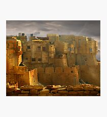 Lone Woman of Jaisalmer Photographic Print